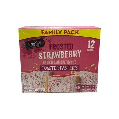 Signature Select Toaster Pastries, Frosted, Strawberry, Family Pack