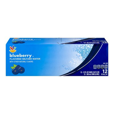 SB Flavored Seltzer Water Blueberry - 12 PK