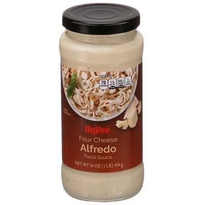 Hy-Vee Four Cheese Alfredo Pasta Sauce