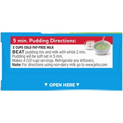 Jell-O Pistachio Sugar Free & Fat Free Instant Pudding & Pie Filling Mix