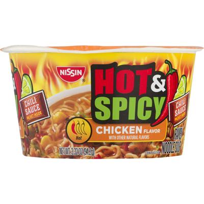 Nissin Hot Spicy Ramen Noodle Soup Chicken