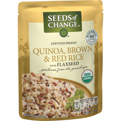 Seeds of Change Certified Organic Quinoa Brown & Red Rice with Flaxseed