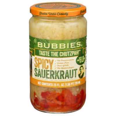 Bubbies Sauerkraut, Spicy
