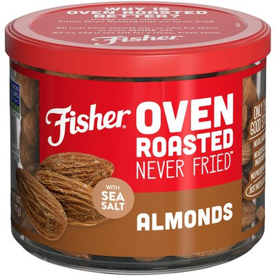 Fisher Oven Roasted Never Fried Almonds with Sea Salt