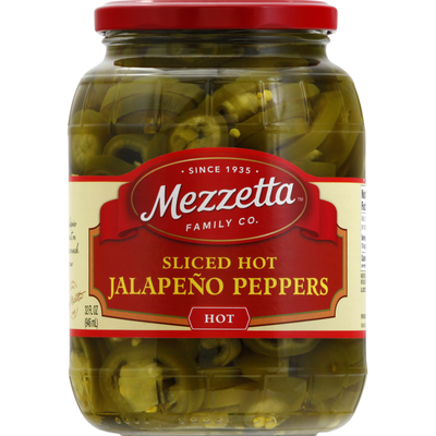 Mezzetta Jalapeno Peppers, Sliced, Hot