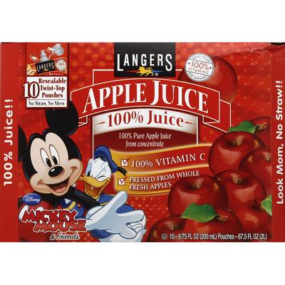 Langers 100% Juice, Pure, Apple