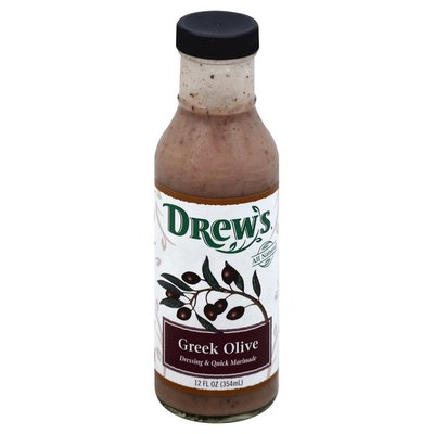 Drew's Dressing & Quick Marinade, Greek Olive