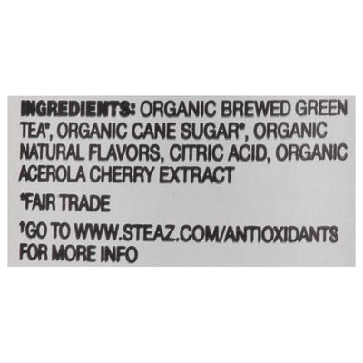 Steaz Green Tea, Blueberry Pomegranate Flavored