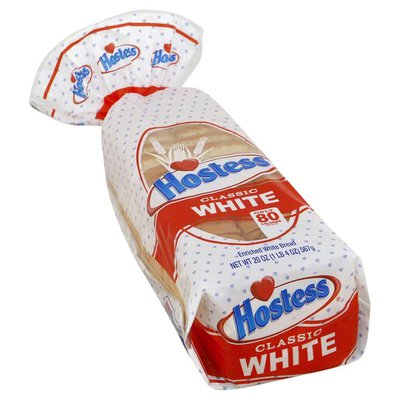 Hostess Bread, Enriched, White