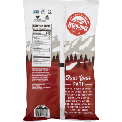 Boulder Canyon Kettle Cooked Potato Chips Hickory Barbeque