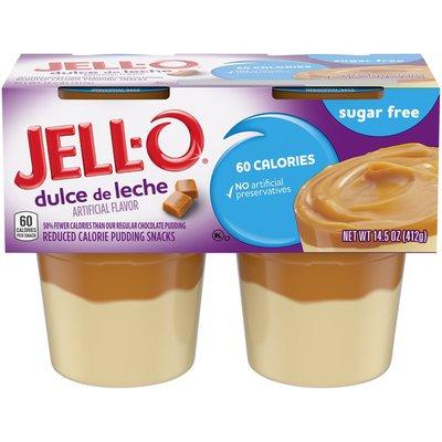 Jell-O Dulce de Leche Sugar Free Ready-to-Eat Pudding Snacks
