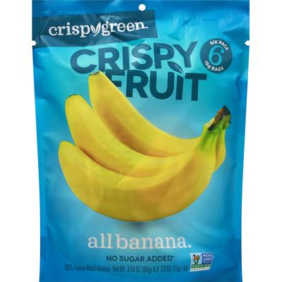 Crispy Green Crispy Fruit, All Banana, 6 Pack