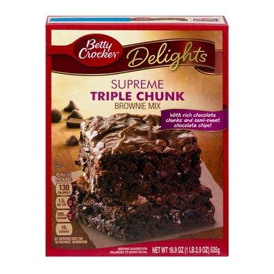 Betty Crocker Delights Supreme Triple Chunk Brownie Mix