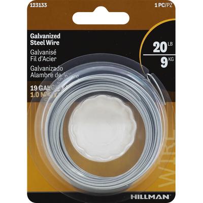 Hillman Group Steel Wire, Galvanized, 19 Gauge