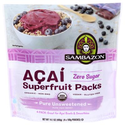 Sambazon Organic Acai Berry Smoothie Packs