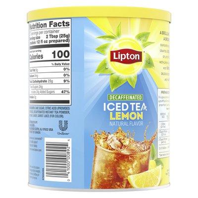 Lipton Black Iced Tea Mix Decaf Lemon Sweetened