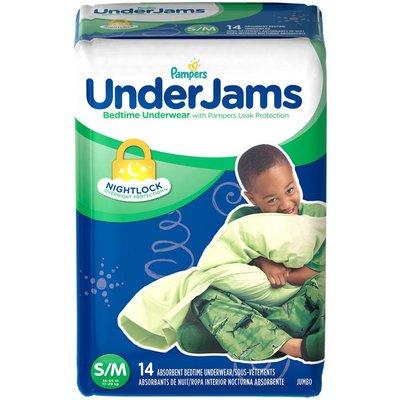 Pampers Underjams Bedtime Underwear Boys Size S/M