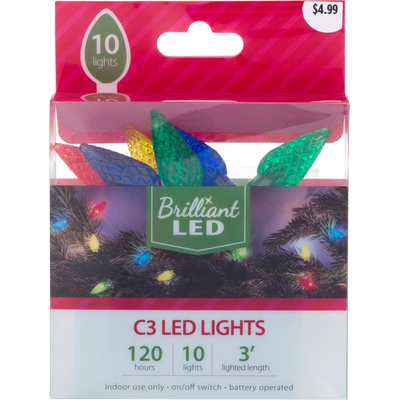 Brilliant Led Lights, C3, 10 Lights