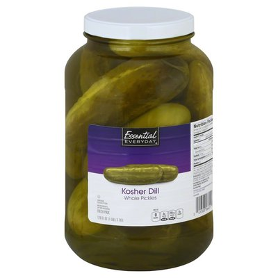 Essential Everyday Pickles, Whole, Kosher Dill, Fresh Pack