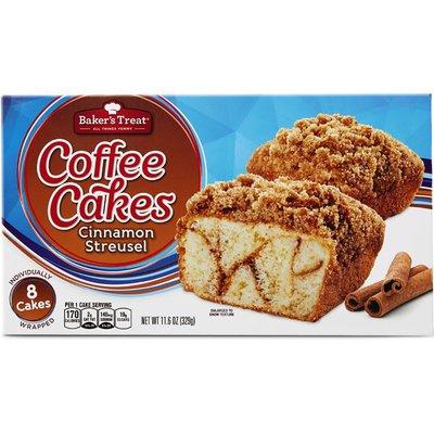 Baker's Treat Cinnamon Streusel Cakes