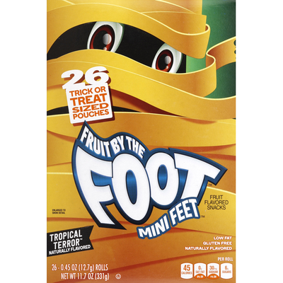 Fruit by the Foot Fruit Flavored Snacks, Tropical Terror