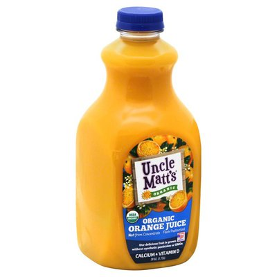 Uncle Matt's Organic Juice, Organic, Orange, Calcium & Vitamin D