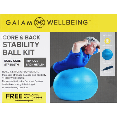 Gaiam Ball Kit, Core & Back Stability