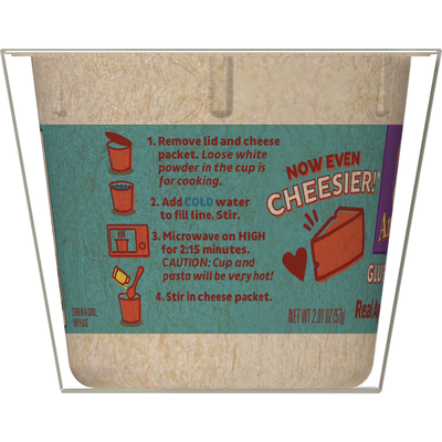 Annie's Gluten Free Rice Pasta & Cheddar Mac & Cheese, Microwavable Cups, 2 Count