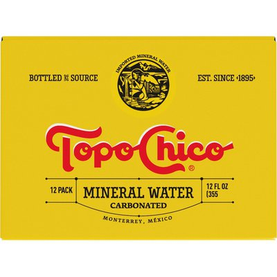 Topo Chico Sparkling Mineral Water Glass Bottles