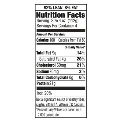 Laura's Lean Beef All Natural  92% LeanGround Beef
