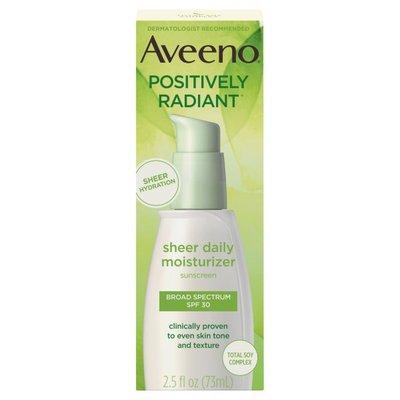 Aveeno® Positively Radiant Sheer Daily Moisturizer SPF 30
