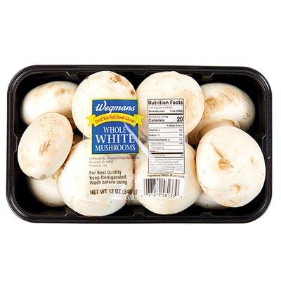 Wegmans Mushrooms, White Whole