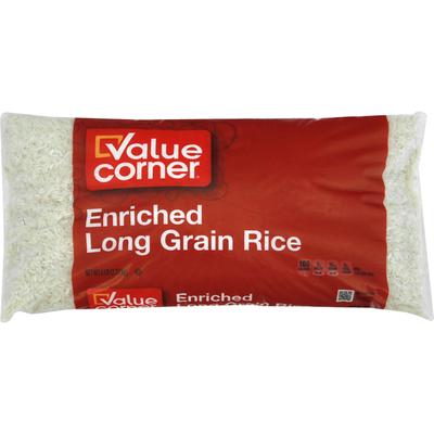 Value Corner Rice, Enriched, Long Grain