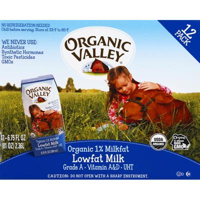 Organic Valley Organic 1% Milkfat Lowfat Milk