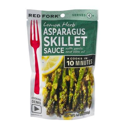 Red Fork Lemon Herb Asparagus Skillet Sauce
