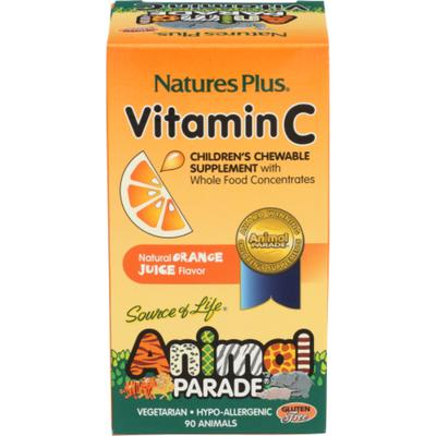 Nature's Plus Vitamin C Children's Chewable Supplement, Orange Juice