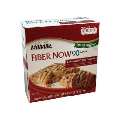 Millville Fiber Now 90 Calorie Cinnamon Coffee Cake Bars
