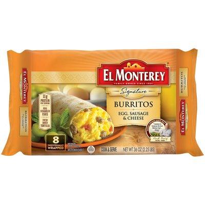 El Monterey Signature Burritos Egg, Sausage & Cheese
