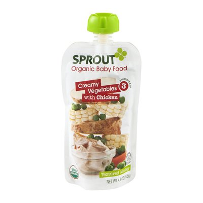 Sprout Organic Baby Food Creamy Vegetables with Chicken