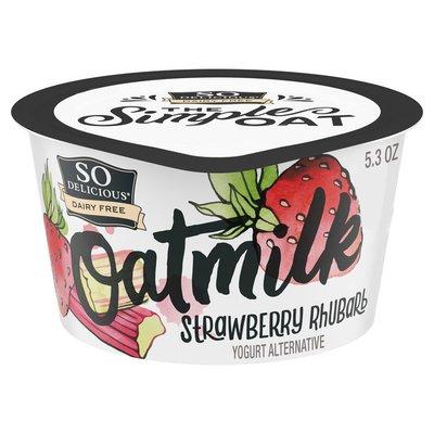 So Delicious Dairy Free Strawberry Rhubarb Oat Milk Yogurt Alternative
