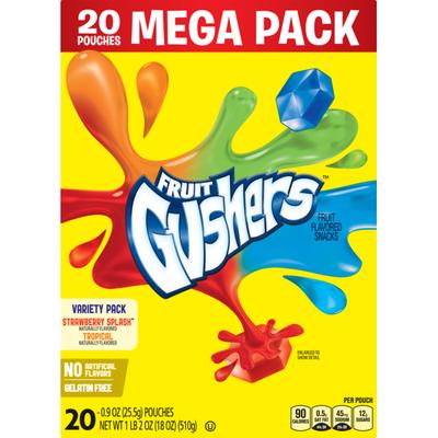 Betty Crocker Fruit Snacks, Gushers, Meg, Variety Snac