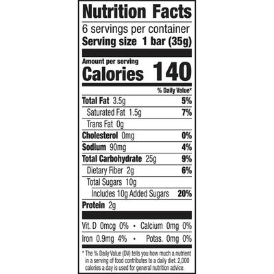 Cascadian Farm Organic Chocolate Chip Chewy Granola Bars, 6 Bars