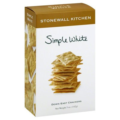 Stonewall Kitchen Crackers, Down East, Simple White