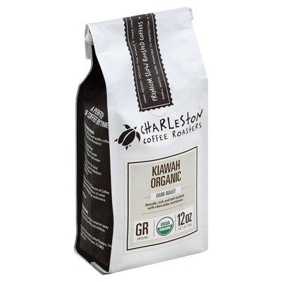 Charleston Coffee Roasters Coffee, Ground, Dark Roast, Kiawah Organic