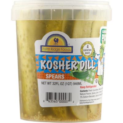 Farm Ridge Food Pickles, Kosher Dill, Spears