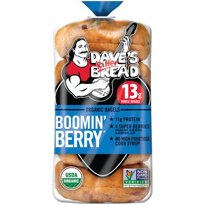 Dave's Killer Bread Organic Boomin Berry Bagels