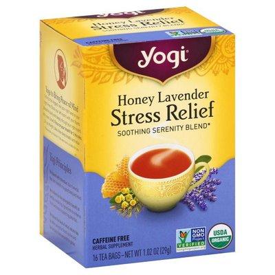 Yogi Tea, Stress Relief, Honey Lavender, Caffeine Free, Bags