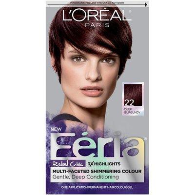Feria 22 Deep Burgundy Hair Color