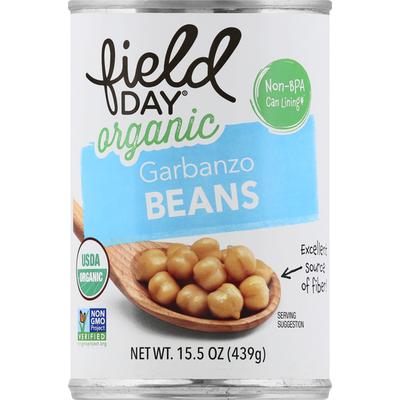 Field Day Garbanzo Beans, Organic
