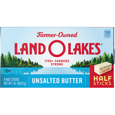 Land O Lakes Butter, Unsalted, Half Sticks